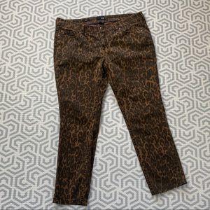 Leopard skinny jeans 16